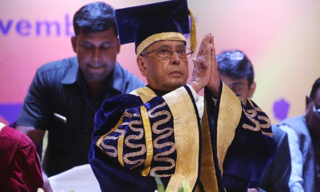 PRANAB EMPHASISES BASIC RESEARCH FOR INDIAN UNIVERSITIES TO BE COUNTED AMONG THE BEST