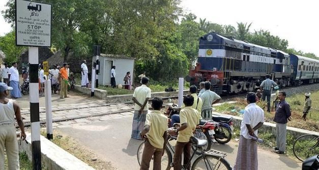 East Coast Rly Gate Mitra to man unmanned level crossing gates
