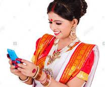 Indian house wives busy in text chatting & working women in social networking