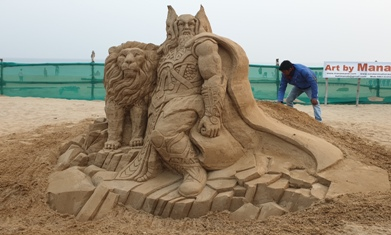 Manas' Sand Art 'The Power In Me'