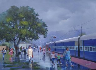 Bijay Biswal's painting fetches Rs 5 lakh as PM Modi put the gift on auction