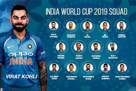 India World Cup Squad 2019 announced by BCCI