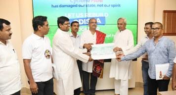 Nigeria Odia Samaja donates Rs. 5 lakh to CM's Relief fund
