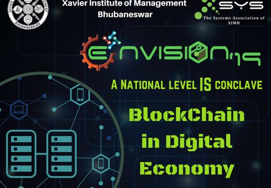 Envision 2019: XIMB to discuss 'Blockchain in Digital Economy'