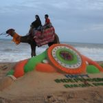 Manas' sand art wishes Independence Day & Raksha Bandhan