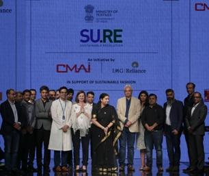 Smriti Irani launches project Su.Re at Lakme Fashion Week