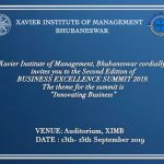 XIBM Business Excellence Summit from Sept 13