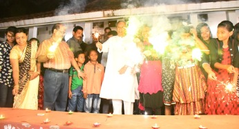 Odisha CM Naveen Patnaik celebrates Diwali with orphan children