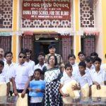 Nalco Mahila Samiti distributes mosquito nets in blind school