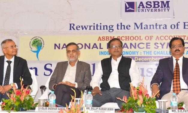 ASBM University Finance Symposium: Indian Economy Challenges Ahead