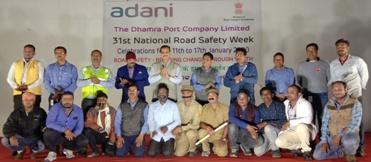 Dhamra Port observes  National Road Safety week