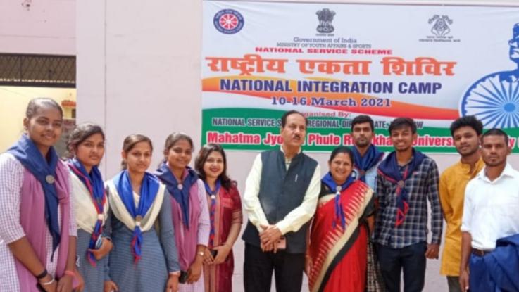 Odisha team in UP National Integration Camp