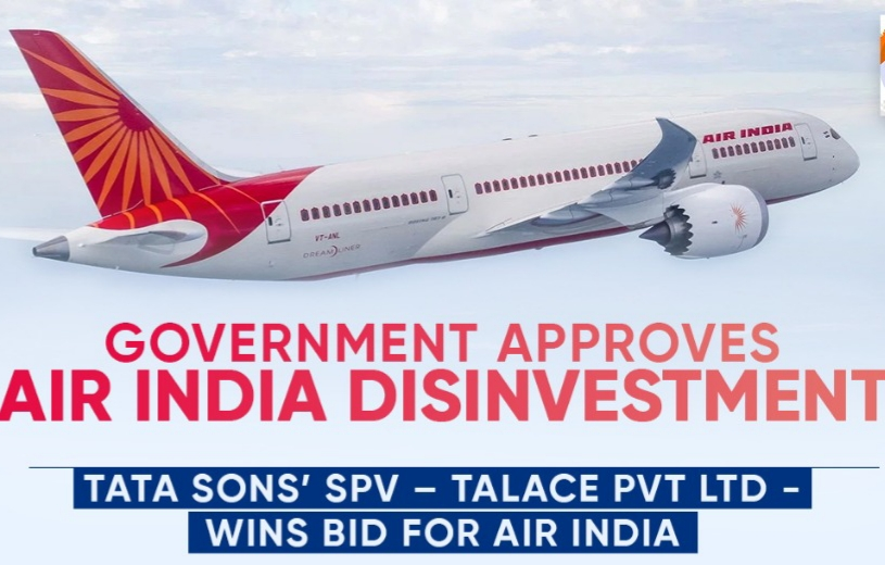 TATA WINS BID FOR AIR INDIA